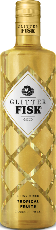 Glitter Fisk Gold