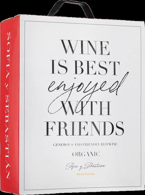 Sofia y Sebastiàn Wine Is Best Enjoyed With Friends Organic