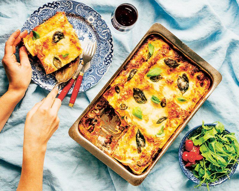 vin till lasagne vegetarisk auburginelasagne