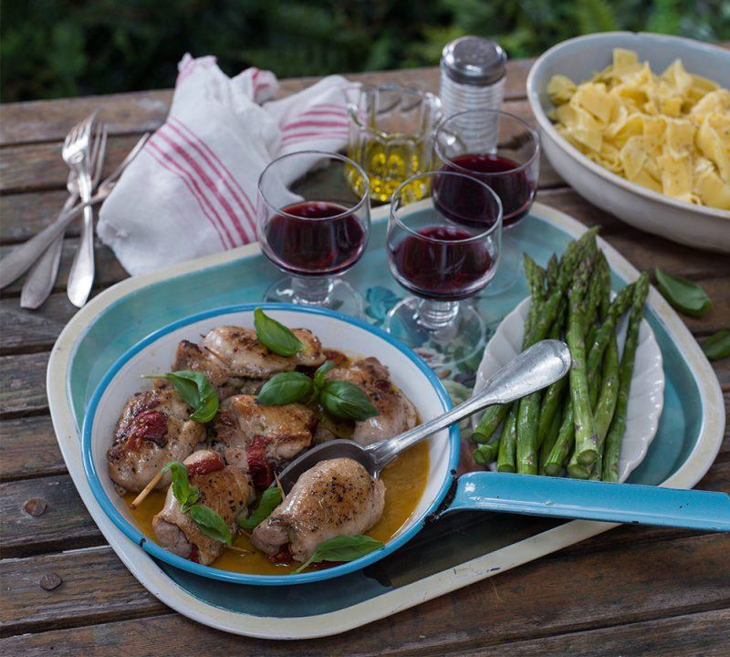 Recept fyllda kycklinglårfileér