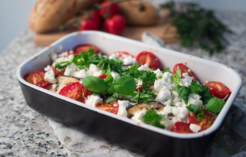 grekisk grönsaksgratäng med fetaost