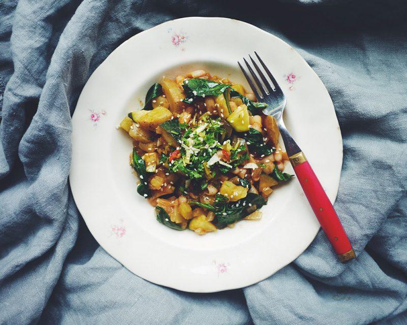 Recept Italiensk grönsaksgryta med vitt vin och gremolata