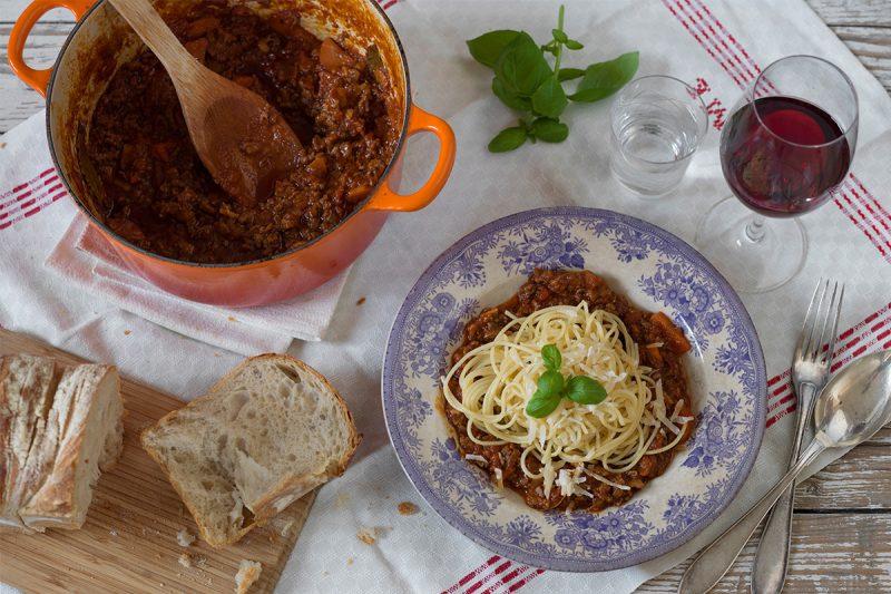 spagetti bolognese på riktigt