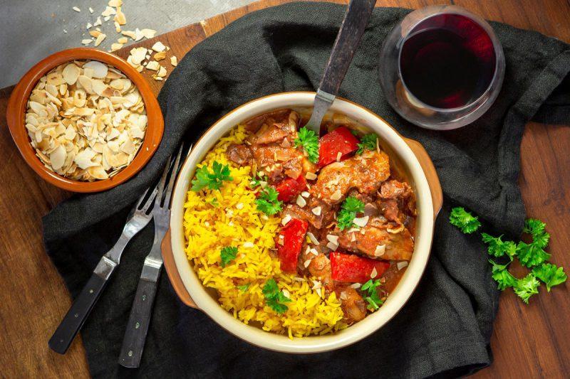 recept spansk kycklinggryta med saffransris